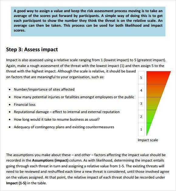 Download Risk Assessment Template Risk Assessment Template Free – Sample Security Risk Assessment