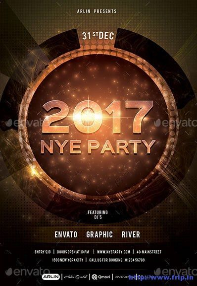 85 Best New Year Flyer Print Templates 2017 | Frip.in