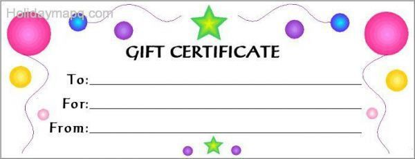 Gift Card Templates Free Custom Gift Certificate Templates For – Free Holiday Gift Certificate Templates
