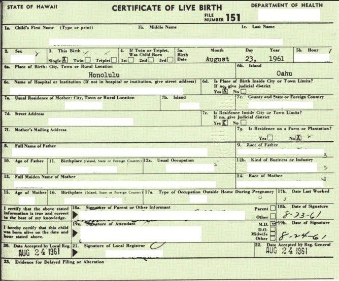 Obama's fake birth certificate | Obama's Birth Certificates