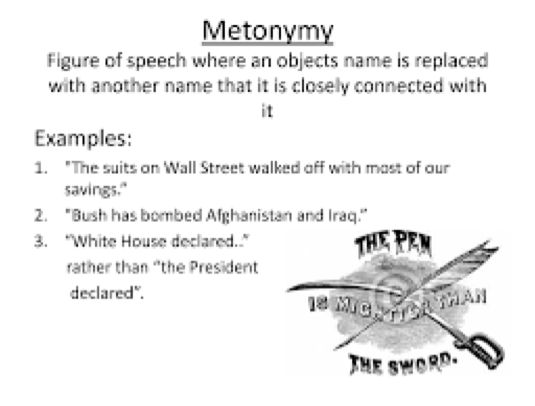 Metonymy - Literary termsElements Definitions and examples