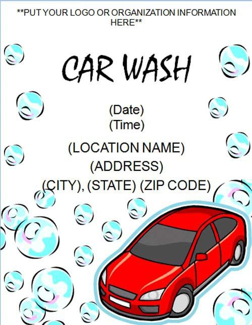 Printable Car Wash Flyer Template - Free Online Flyers