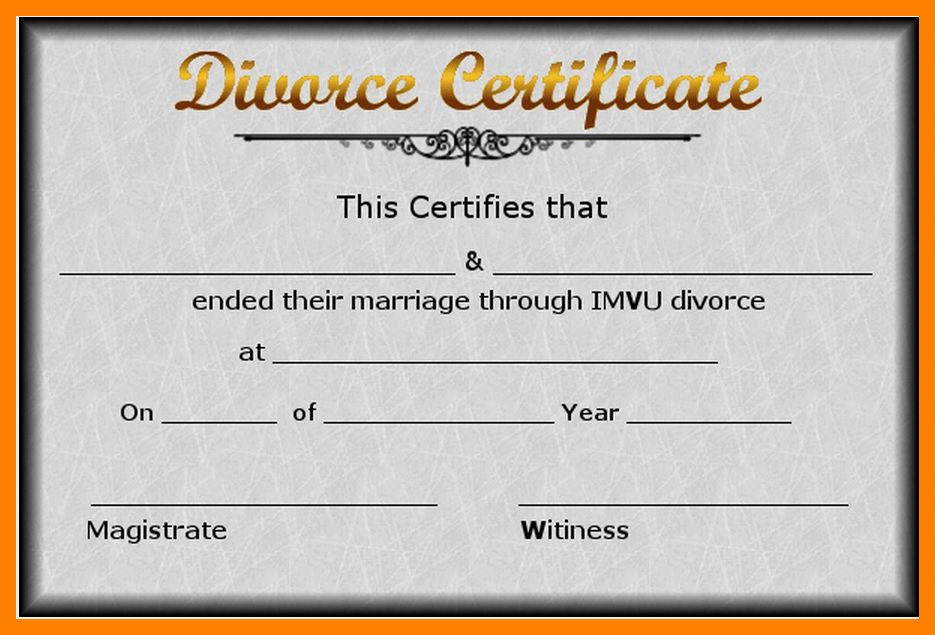 7+ fake divorce certificate | resumes great