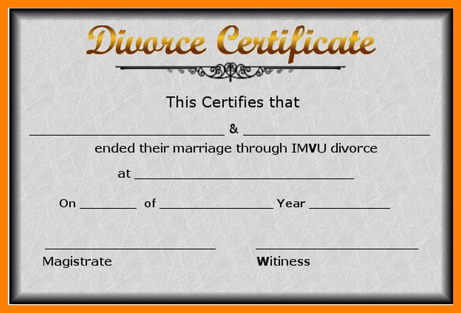 7+ fake divorce certificate | resumes great