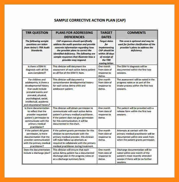 7+ corrective action plan template excel | graphic-resume