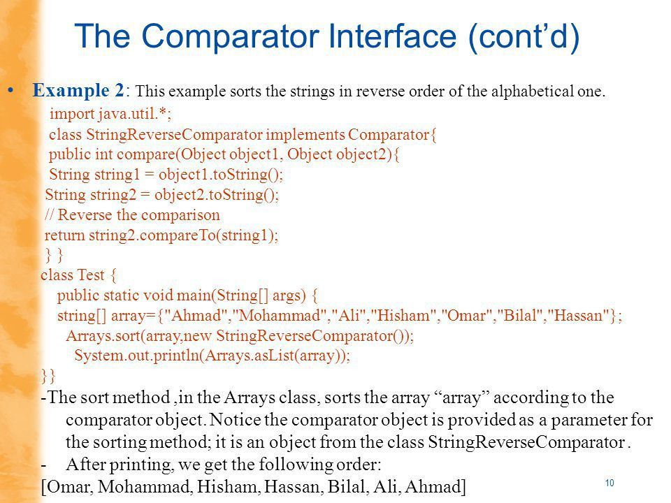 1 Introduction to Searching and Sorting Comparable Interface ...