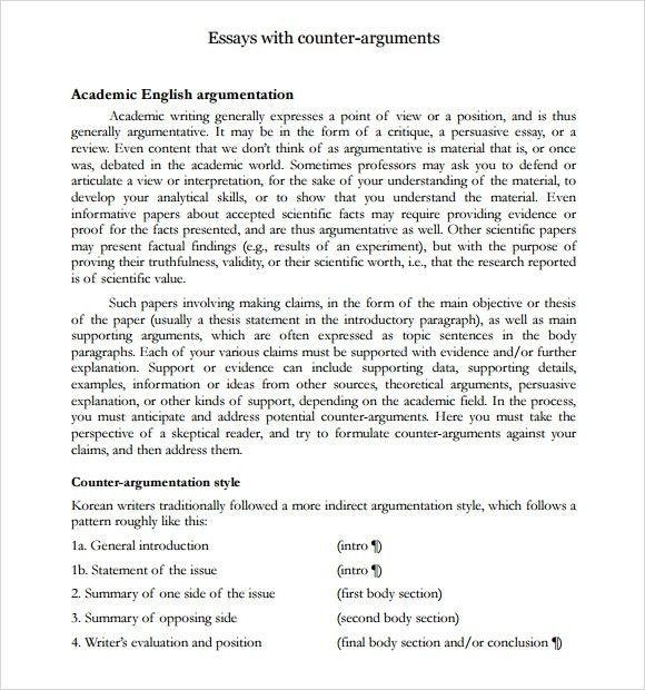 Argumentative Essay Examples For High School Pertaining To 19 ...