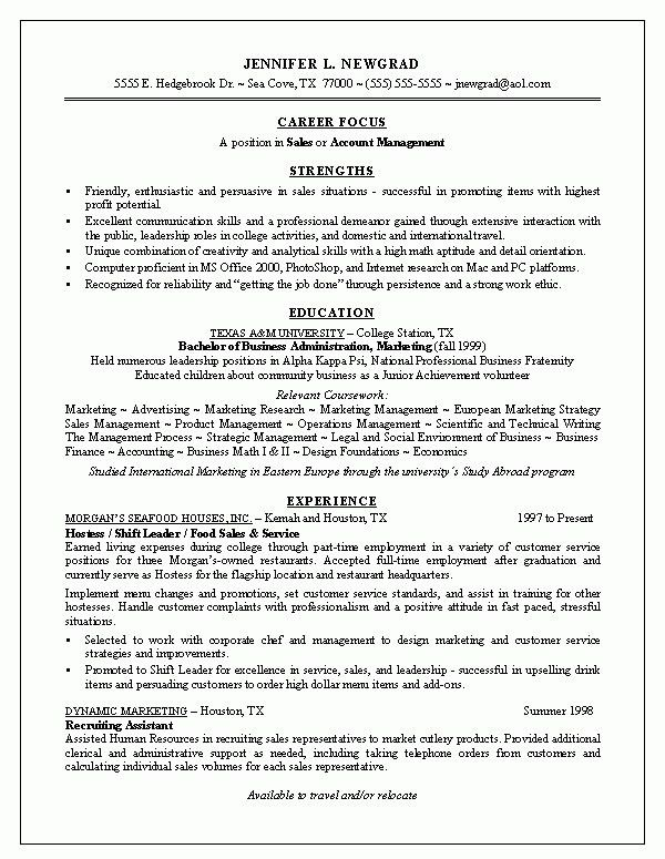 Resume For New Graduate | Best Business Template