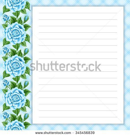 Lined Page Notes Design Retro Style Stock Vector 345463529 ...