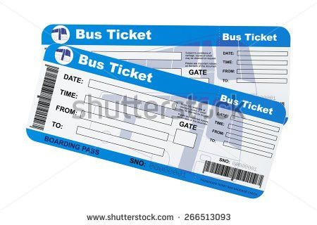 Bus Boarding Pass Tickets On White Stock Illustration 266513093 ...