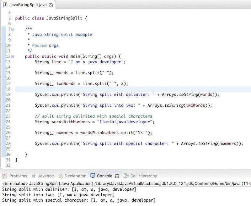 Java String split - JournalDev