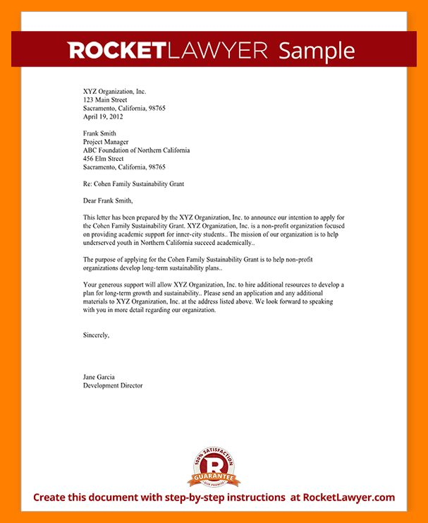 4+ example letter of intent | resumes great