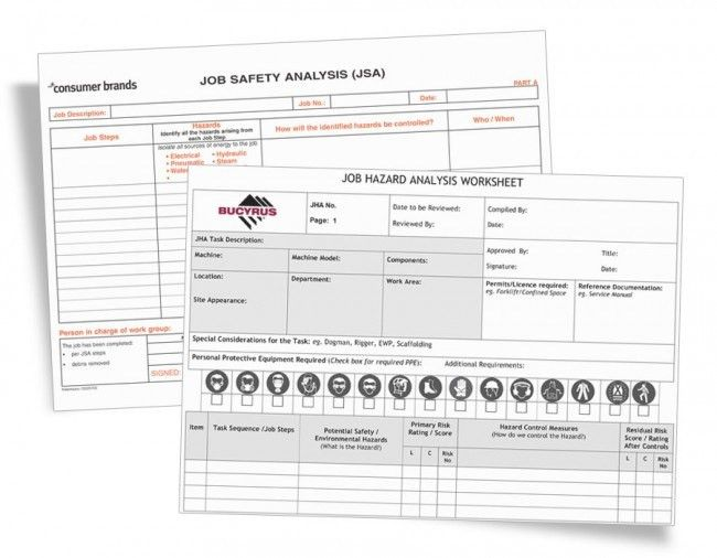 Job Safety Analysis Forms - JSA / JHA Form Printing | Kalamazoo