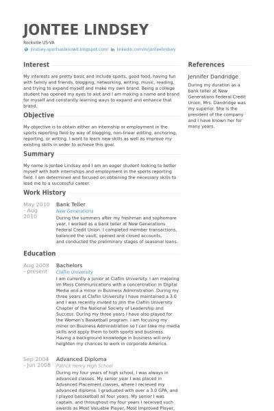 Bank Teller Resume Objective, best 20+ resume objective ideas on ...