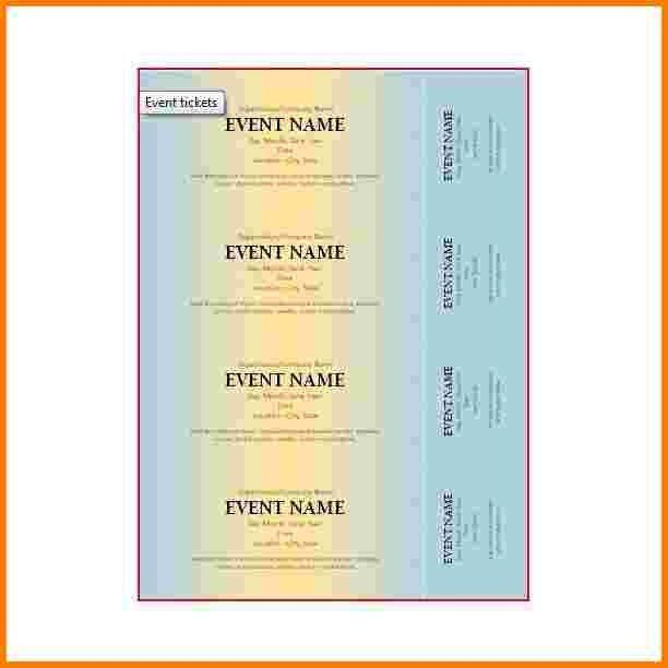 8 microsoft word ticket template | Receipt Templates
