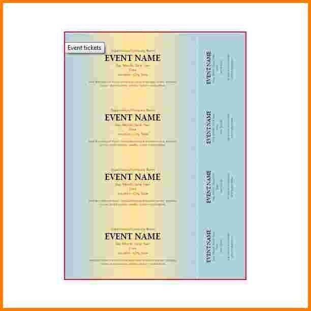 8 microsoft word ticket template | Receipt Templates