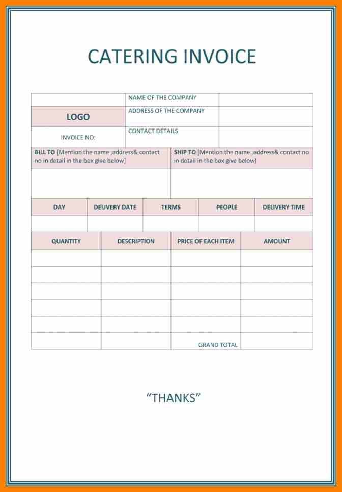 7+ catering invoice template uk | target cashier