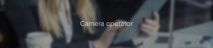 Camera operator: job description | TARGETjobs