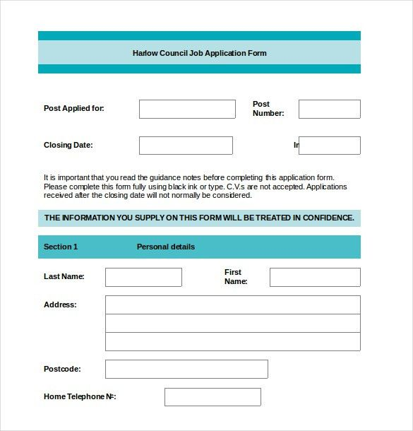 Application Form Format. 10+ Application Form Of Cv - Basic Job ...