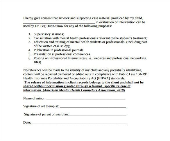 Information Release Form Template Release Of Information Form
