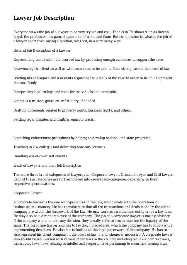 lawyer job description 1 638jpgcb1403021123. Resume Example. Resume CV Cover Letter