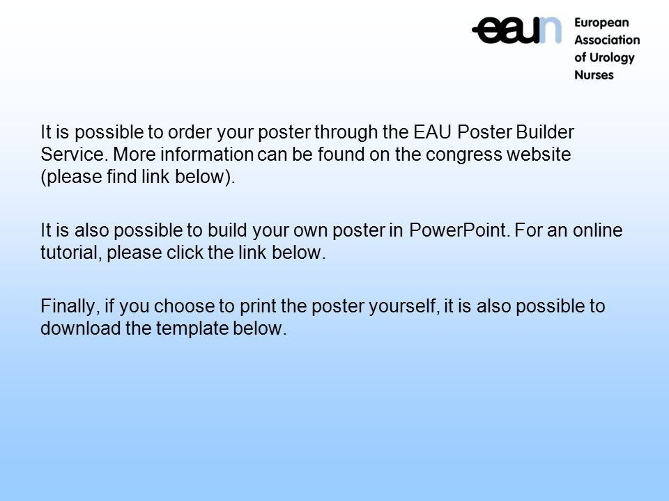 Poster Presentation EAUN Online Tool   Ppt Download  Found Poster Template