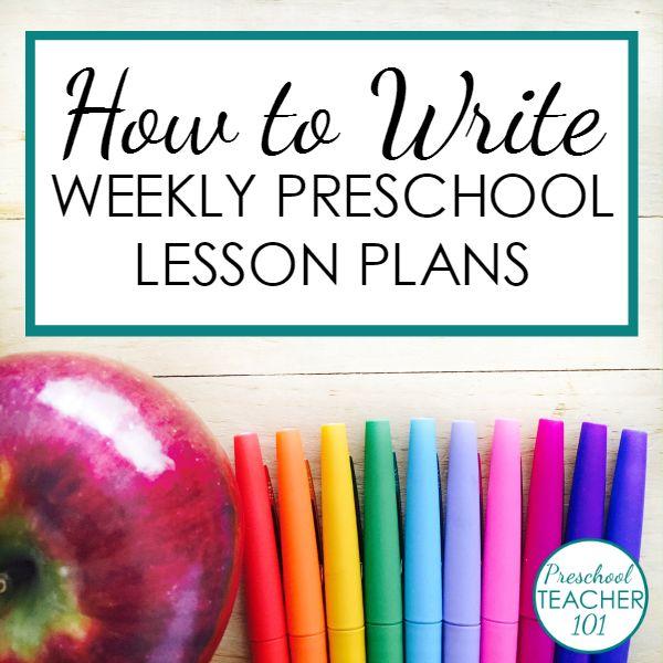 Preschool Lesson Plan Template for Weekly Planning - Preschool ...