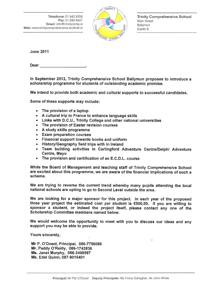 Sponsorship Letter For Youth Event | Create professional resumes ...