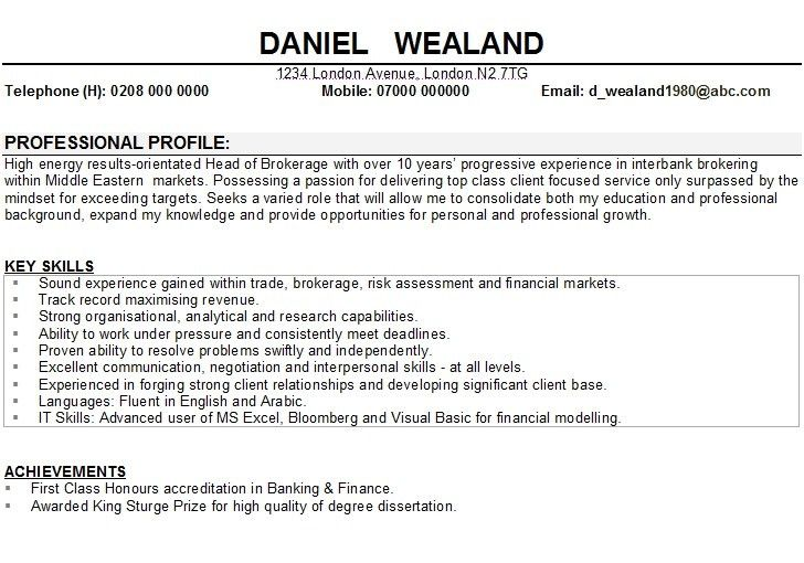 Resume Examples Sample Of Cv Physics Teacher Throughout Example ...