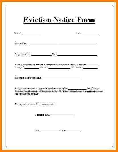 Eviction Notice Form. Eviction Notice Form Sample Notice Form - 22 ...