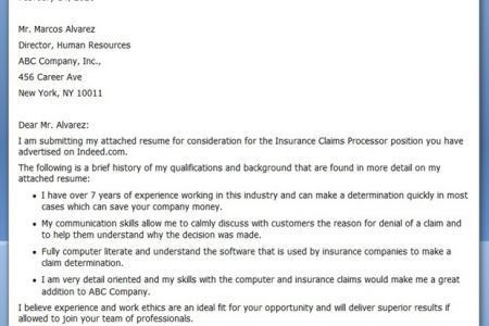 claims cover letter free insurance claims adjuster cover letter