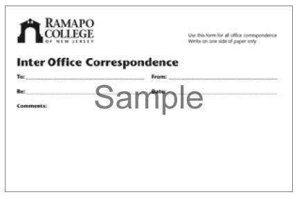 Stationery - Design Standard    Ramapo College of New Jersey