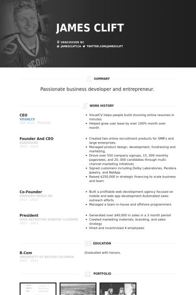 sample resume for a ceo