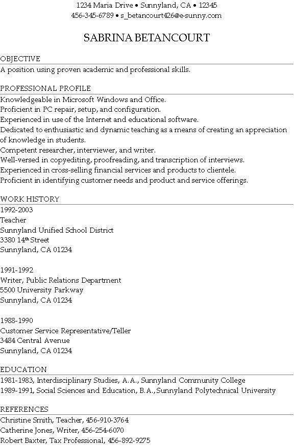 awesome idea profile for resume 12 professional profile resume ...