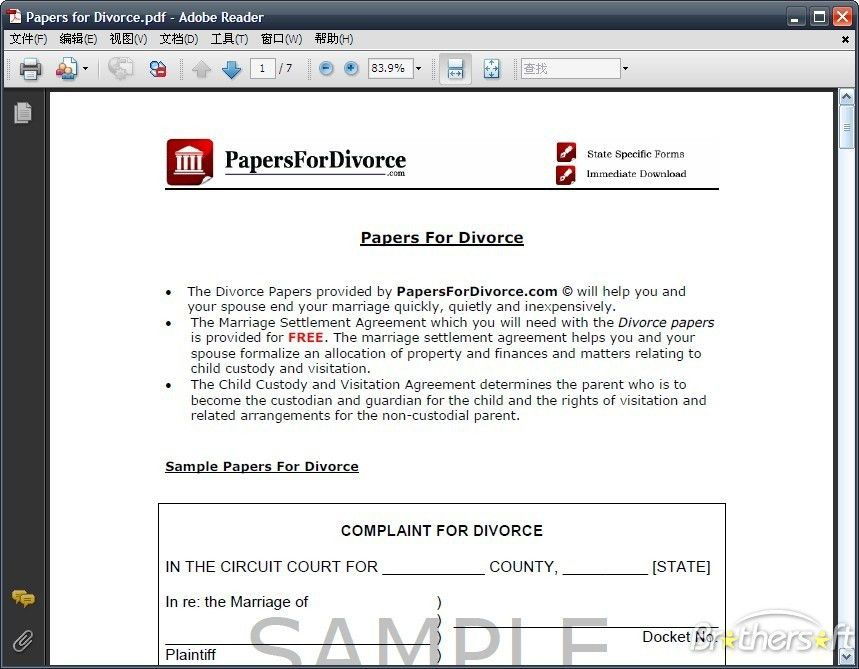 Download Free Papers for Divorce, Papers for Divorce 5.0 Download