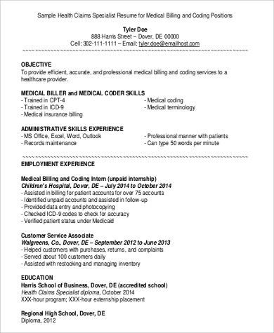 Sample Medical Billing and Coding Job Description - 9+ Examples in ...