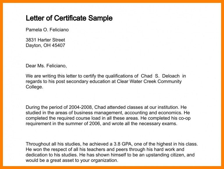 How To Write A Certified Letter - Resume Templates