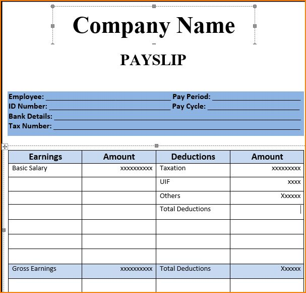 Awesome Download Payslip Template Images - Best Resume Examples ...