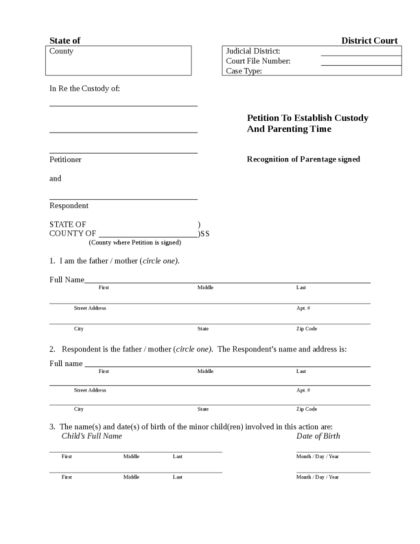 Custody Agreement | LegalForms.org