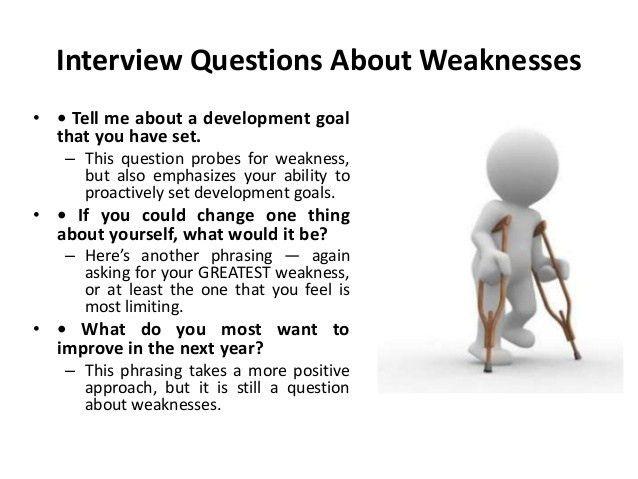Weakness Examples Job Interview - Osclues.com
