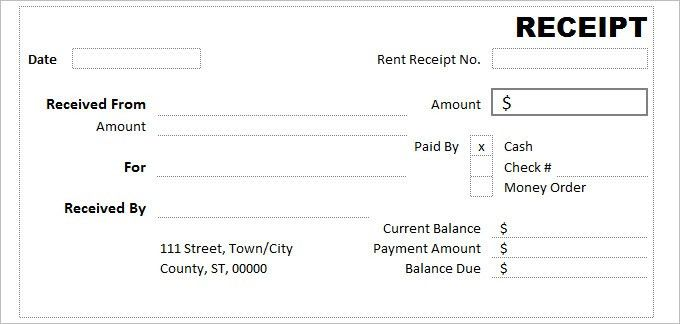 Cash Receipt Template - 7 Free Word, Excel Documents Download ...