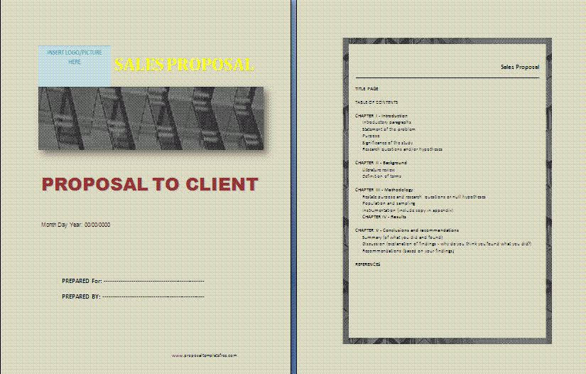 Sales Proposal Template | Formsword: Word Templates & Sample Forms