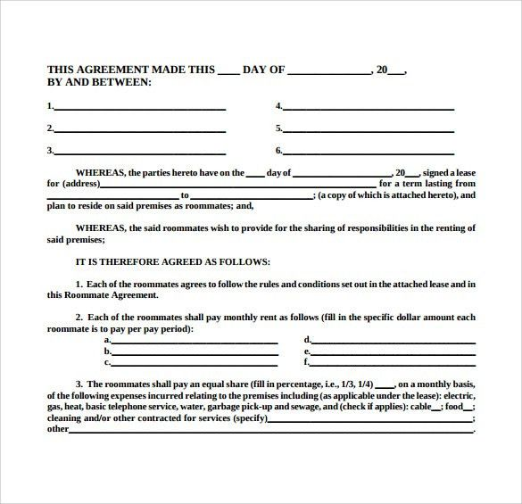 Sample Room Lease Agreement - 10+ Free Documents Download In Word, PDF