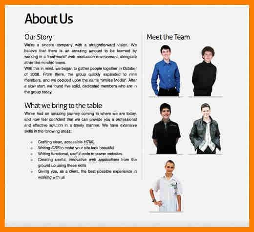 4+ company bio template | resume pictures