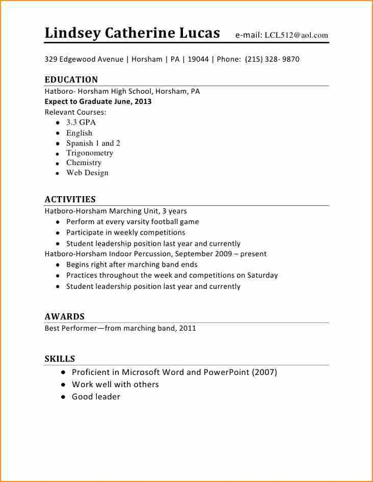 14+ cv template student first job - Basic Job Appication Letter