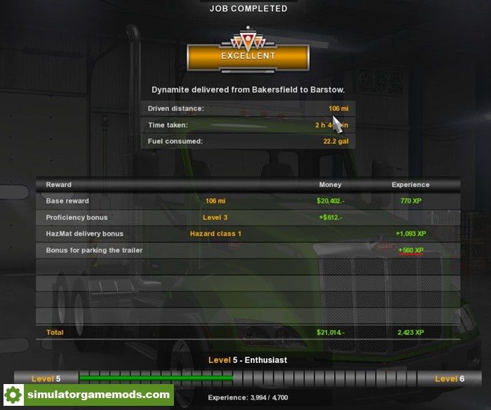 ATS – XP X7 and Money X7 – More Experience – Simulator Games Mods ...
