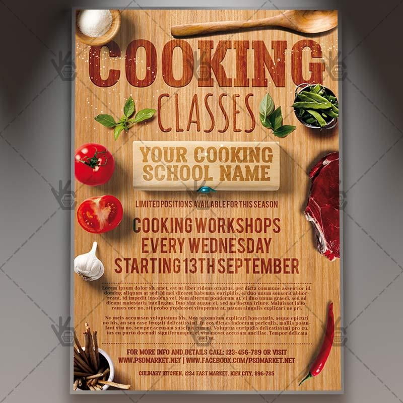 Cooking Classes - Premium Flyer PSD Template. #chef #cook ...