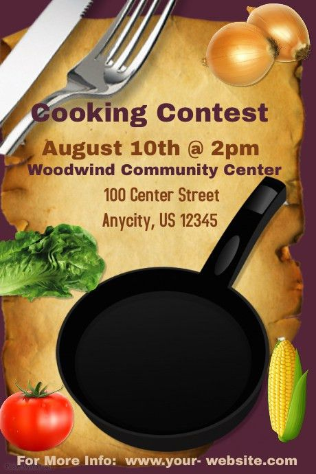 Cooking Contest Template | PosterMyWall