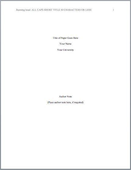 Title Page | APA Format | Pinterest | Apa style and Apa style ...