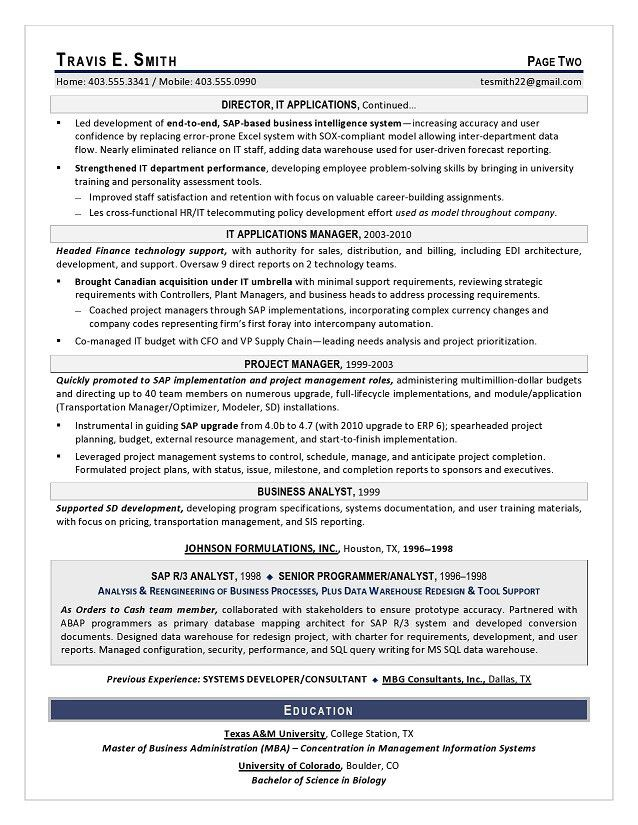 VP IT Sample Resume - Executive Resume Writing Services for CIO ...
